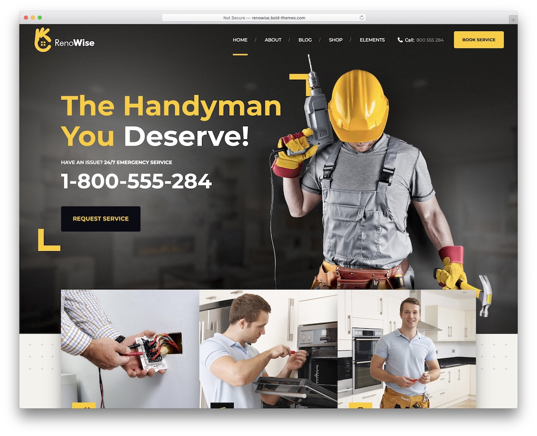 renowise construction company wordpress theme