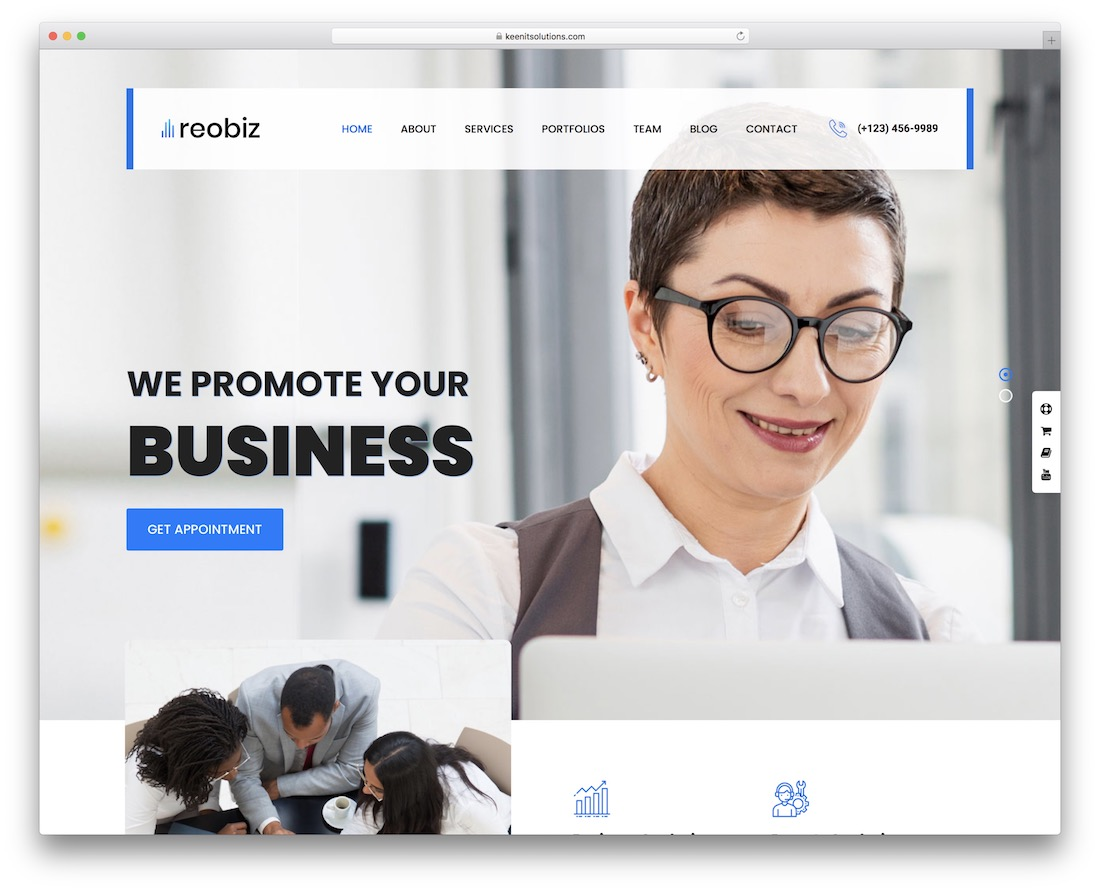 reobiz wordpress theme