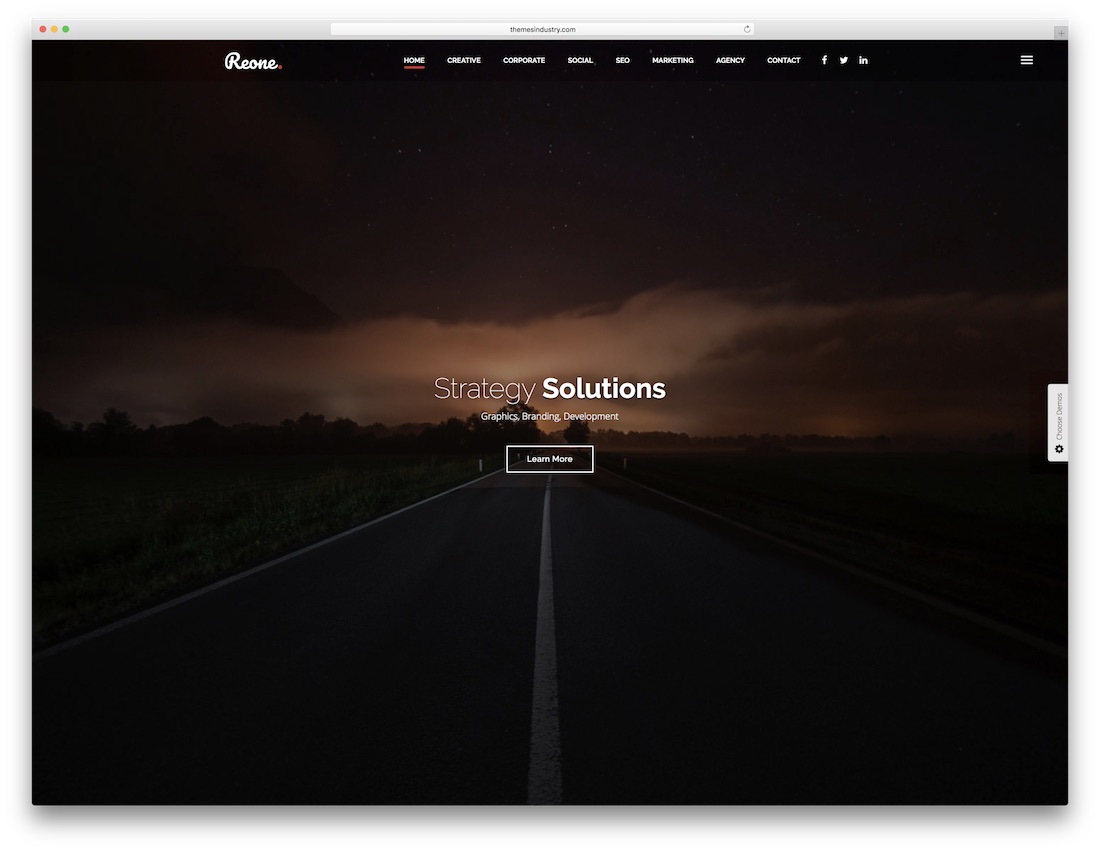 reone html5 one page website template