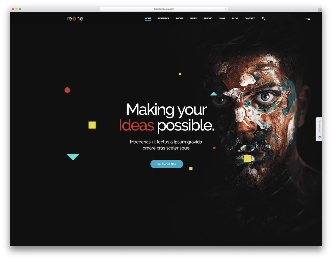 reone video website template
