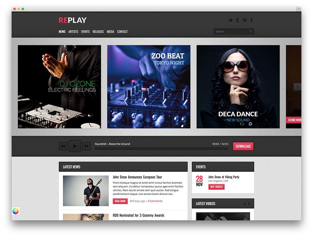 30+ Awesome & Responsive WordPress Music Themes 2017 - Colorlib
