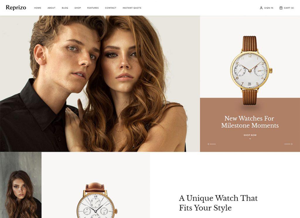 Reprizo | Jewelry & Watch Shop WordPress Theme