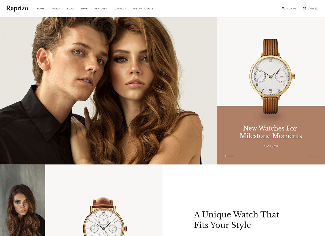 Reprizo - Jewelry & Watch Shop WordPress Theme