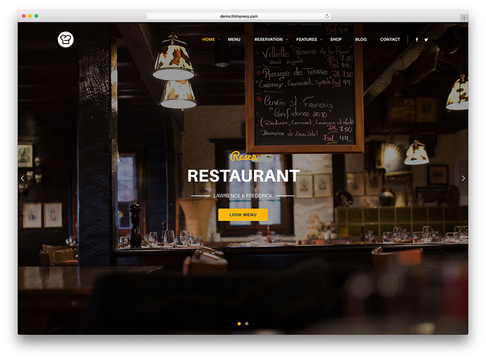 resca wordpress restaurant