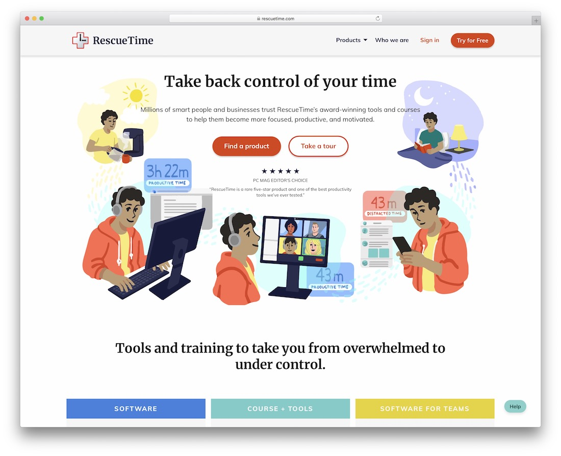 rescuetime free time tracking productivity tool