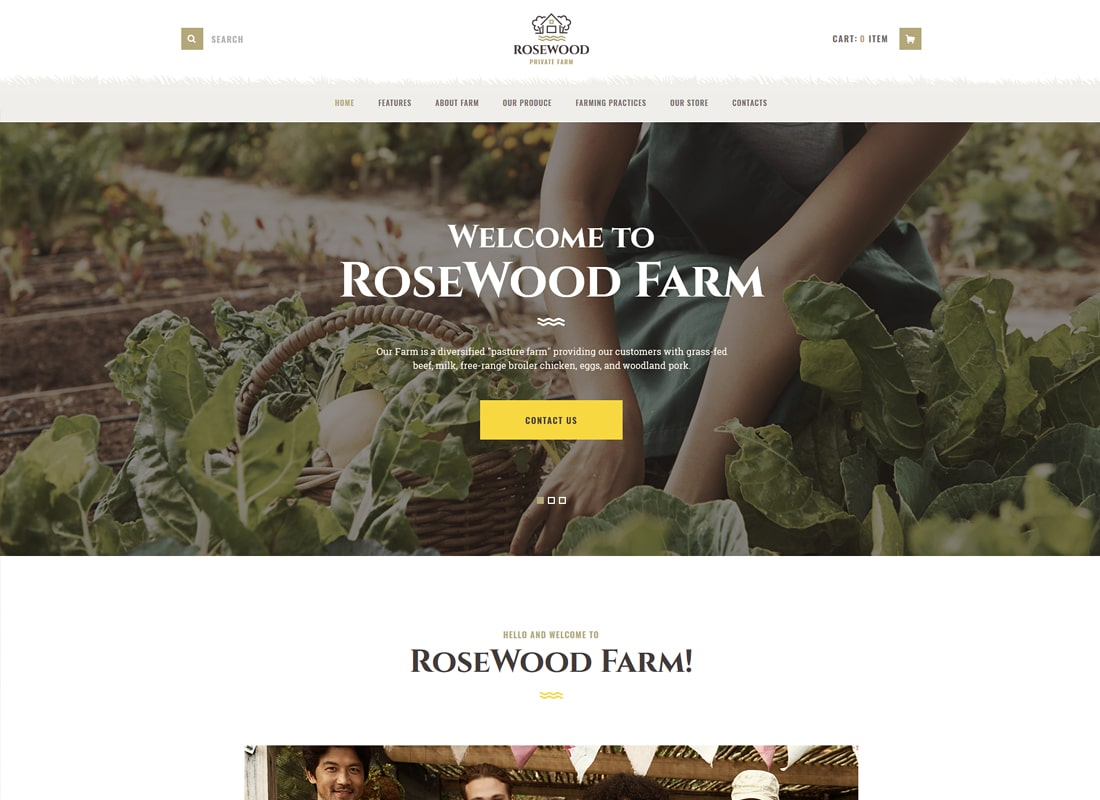 Rosewood | Organic Farming WordPress Theme