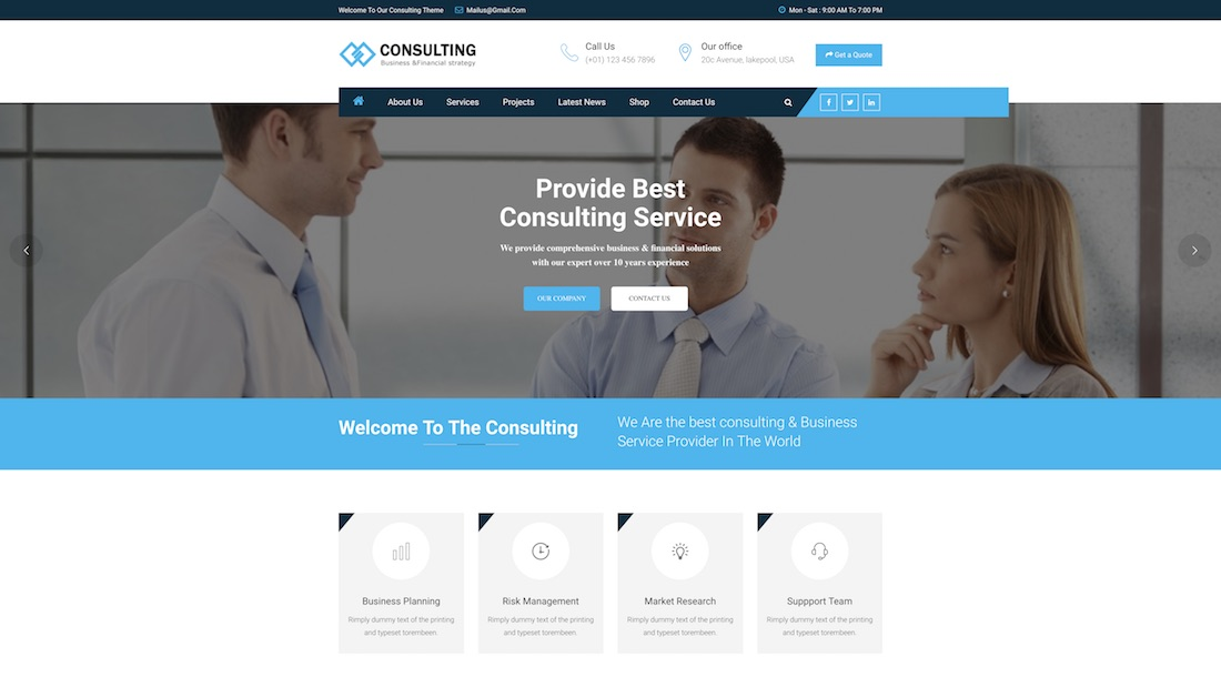 responsive consulting website template