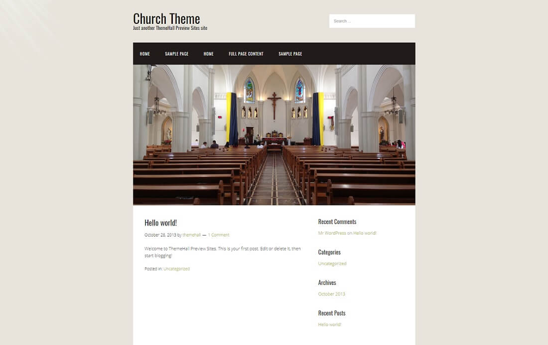 responsive free church website template
