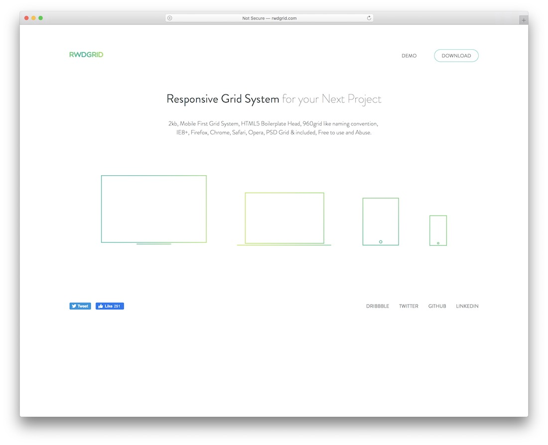 responsive grid system for your next project or app