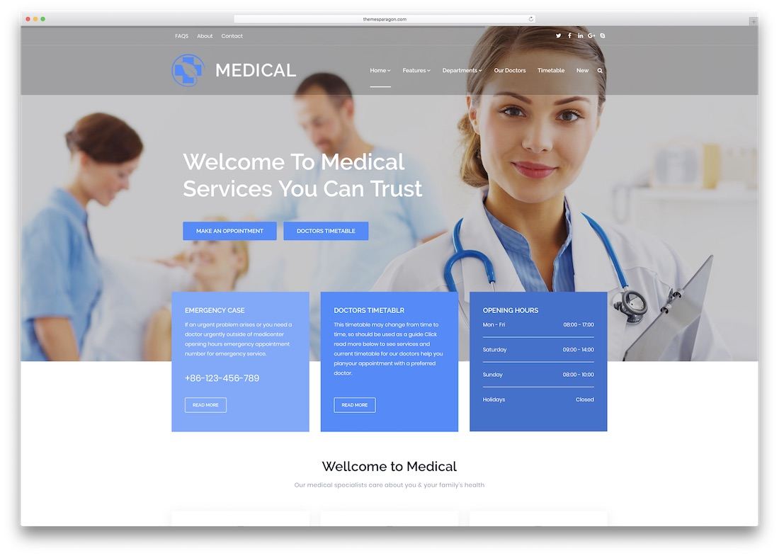 responsive medical website template