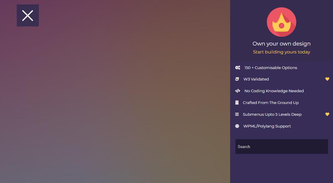 Right Sidebar WordPress Dropdown Menu Plugin