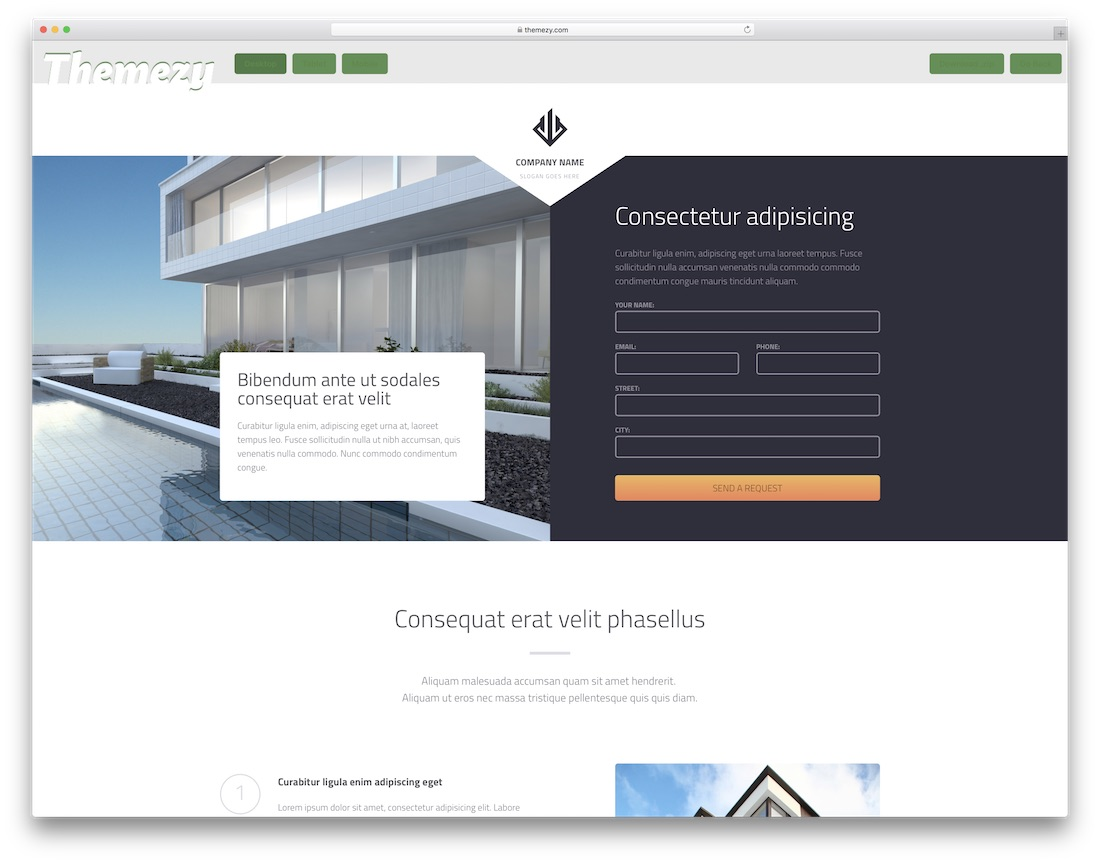 responsive real estate website template