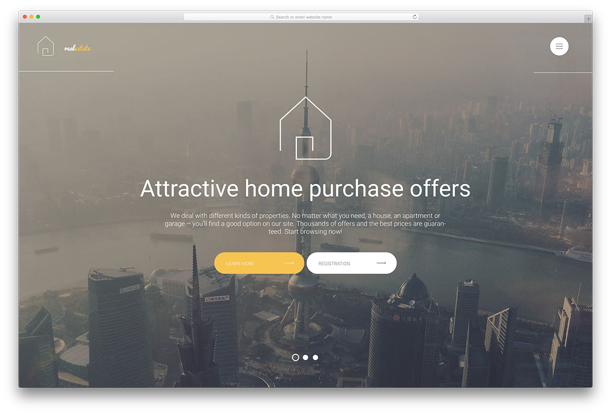Responsive Realestate Wordpress Themes