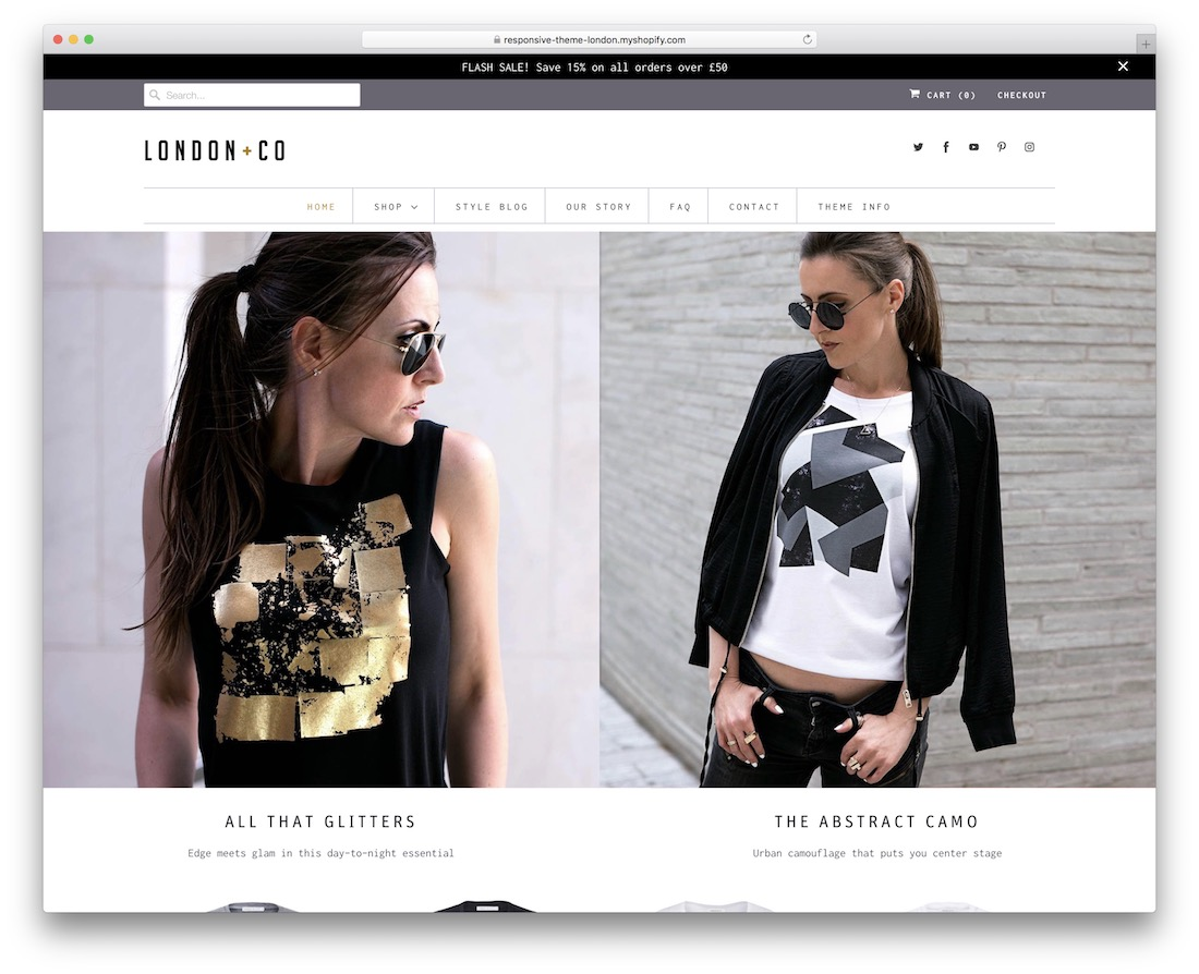 responsive shopify theme for t-shirts