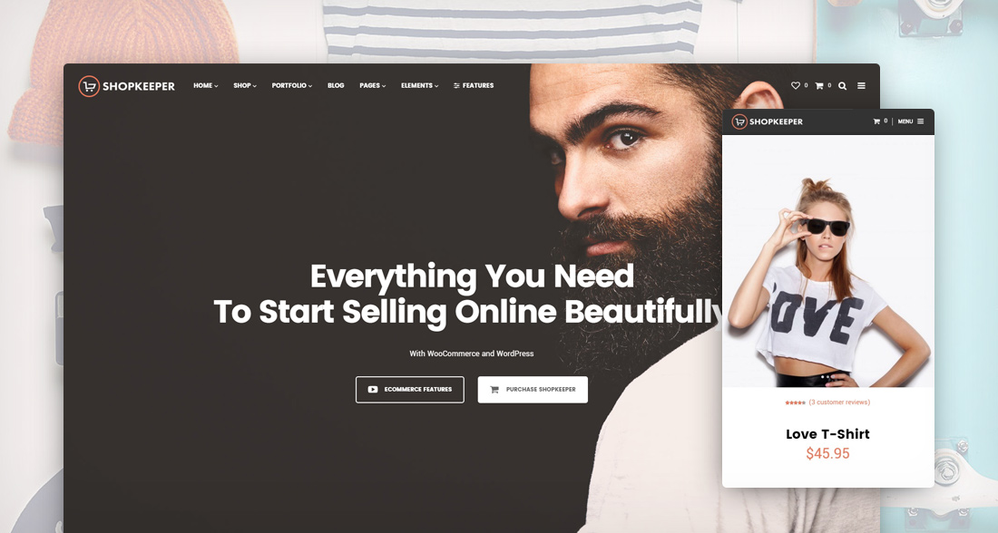 49 best woocommerce wordpress themes to build awesome for Wordpress t shirt store theme free