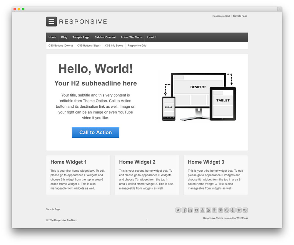 responsive - most popular free theme