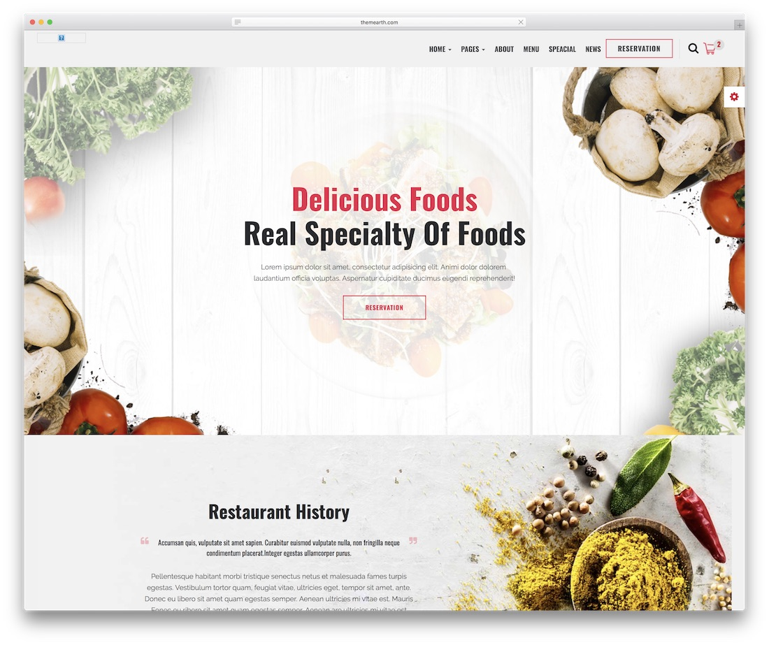 restaura food website template