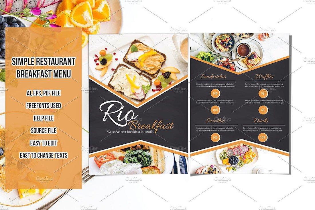 restaurant breakfast menu