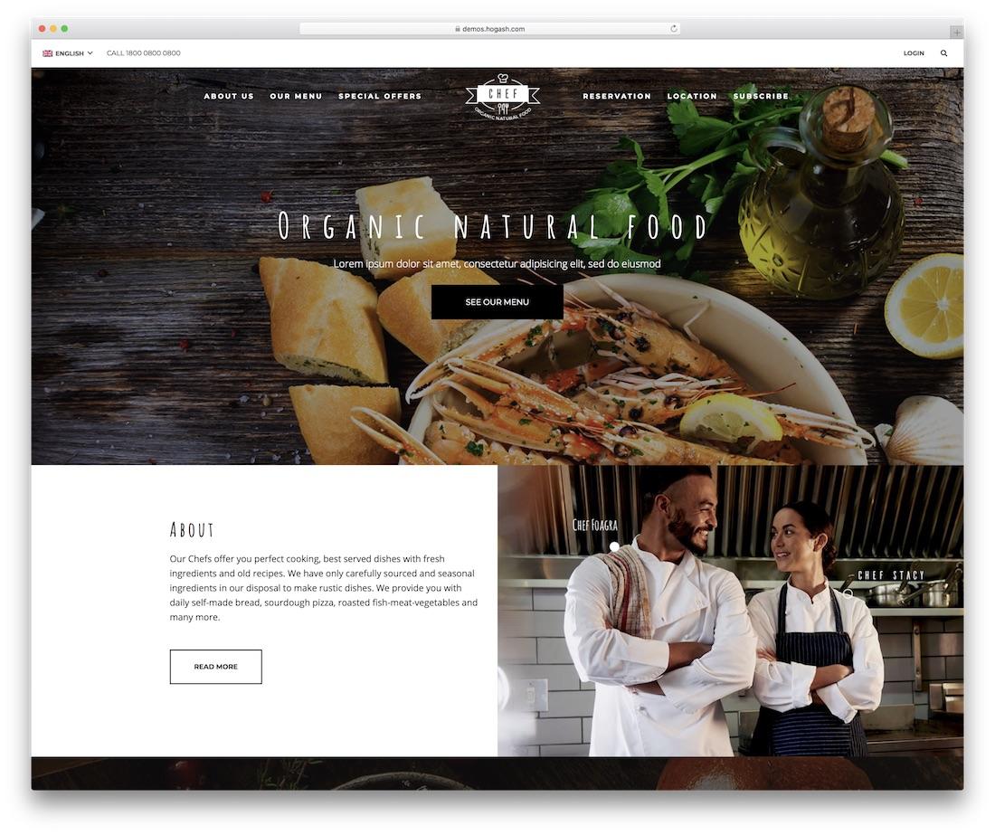 restaurant food website template