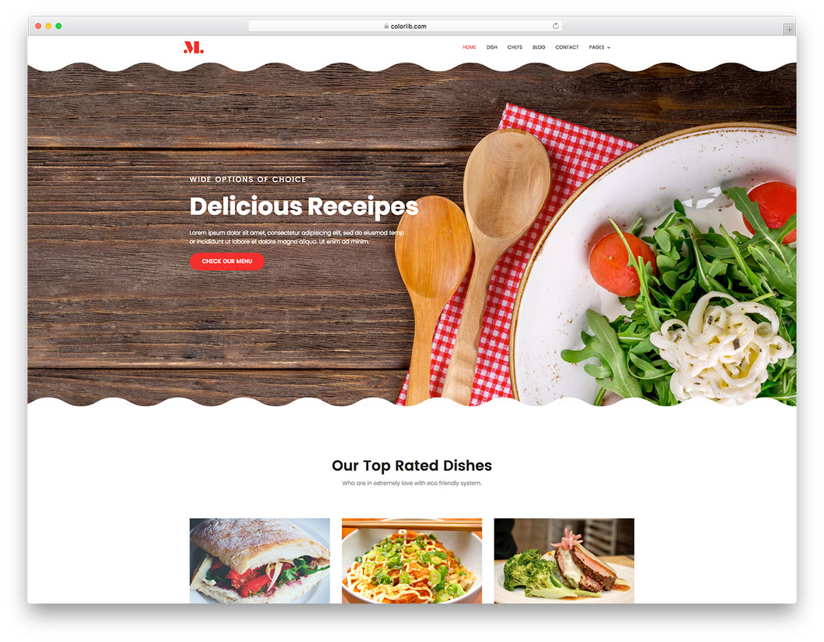 Best free restaurant website template colorlib