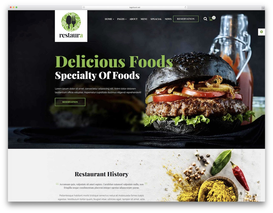restaurant html catering website template