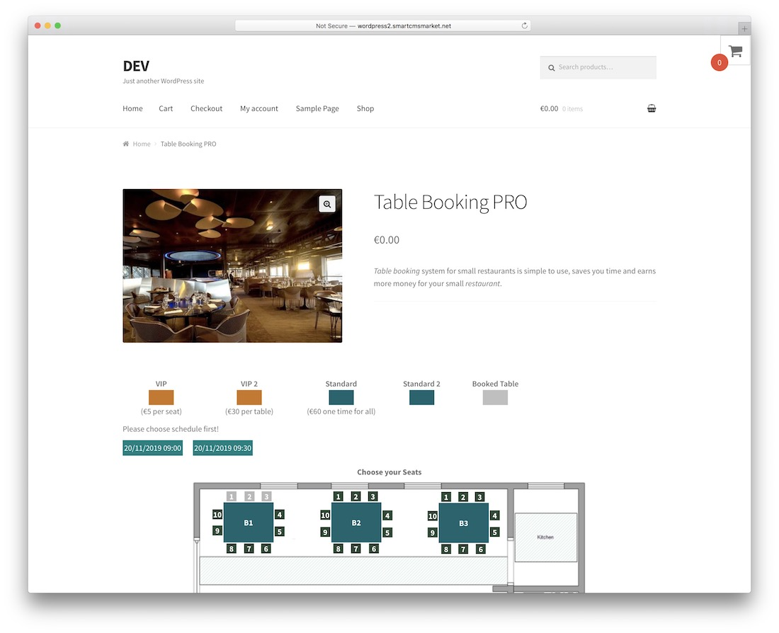 restaurant reservation wordpress booking plugin