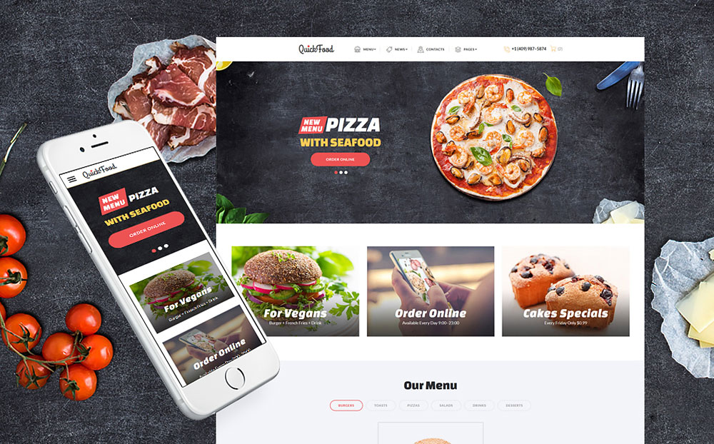 Fast Food Restaurant Web Template