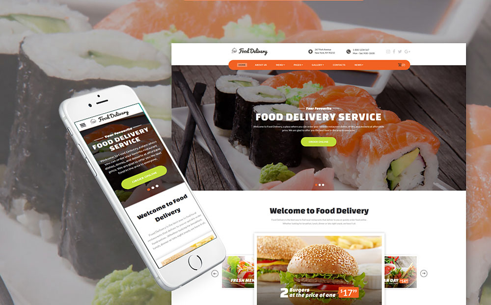 Restaurant & Food Ordering Website Template