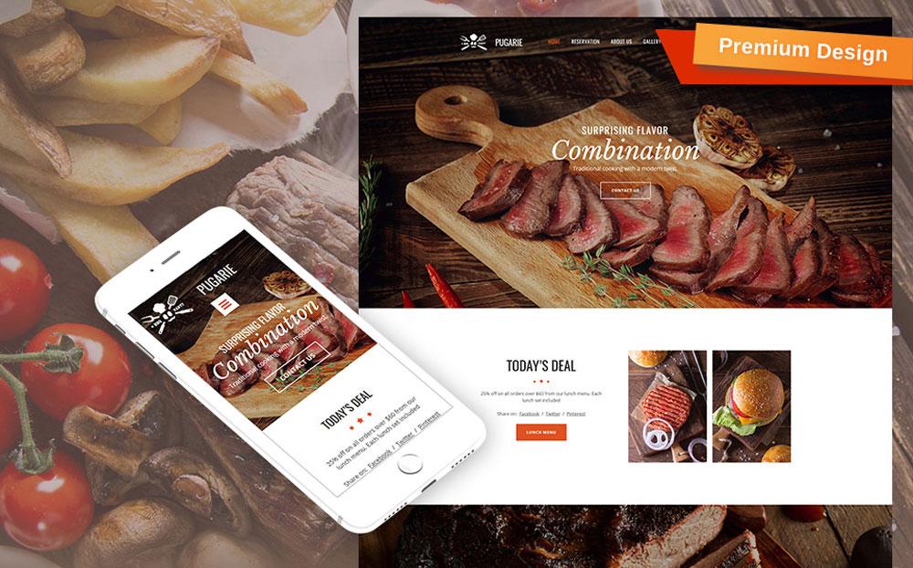 BBQ Restaurant Moto CMS 3 Template