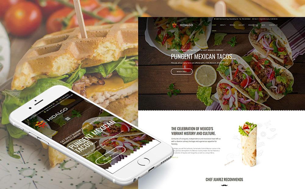 Mexican Restaurant Responsive Moto CMS 3 Template
