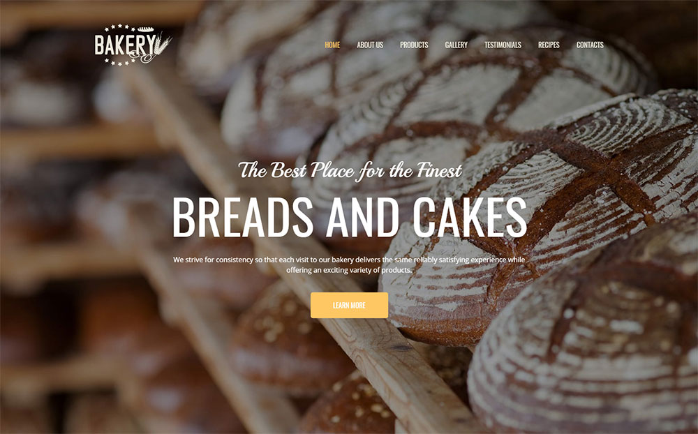 Bakery Premium Moto CMS 3 Template