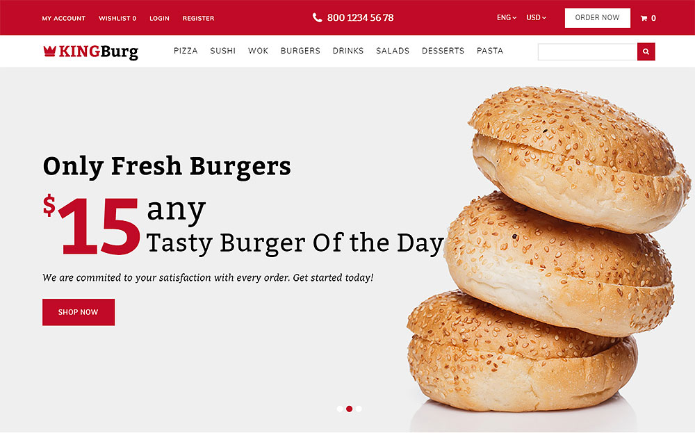 Burger OpenCart Template