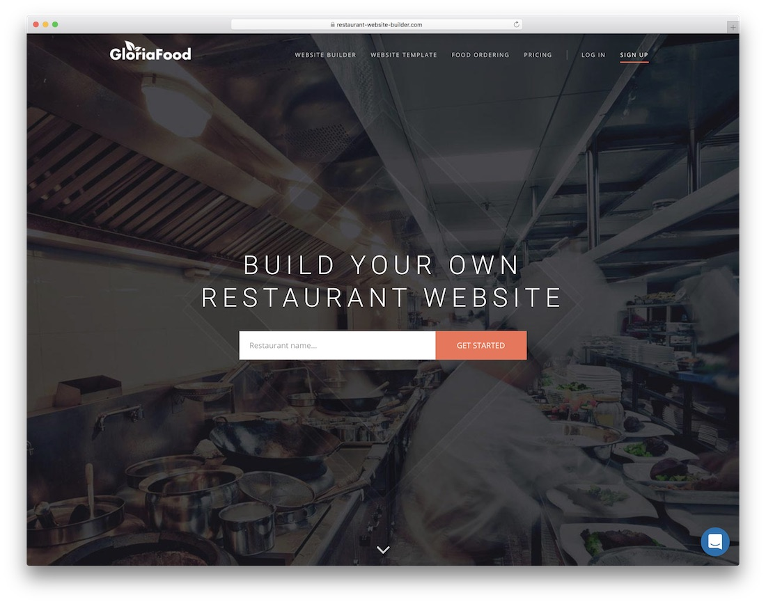restaurant website builder software
