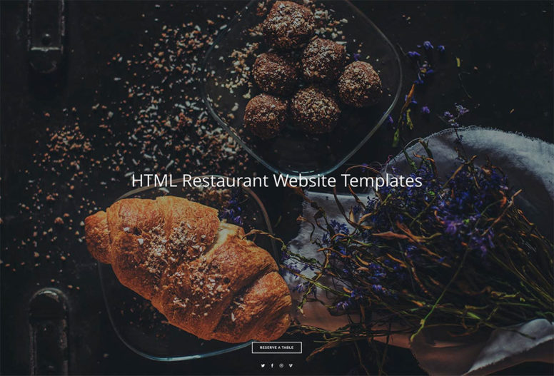 Top 20 HTML5 Restaurant Website Templates For Small And Medium Sized Restaurants 2017