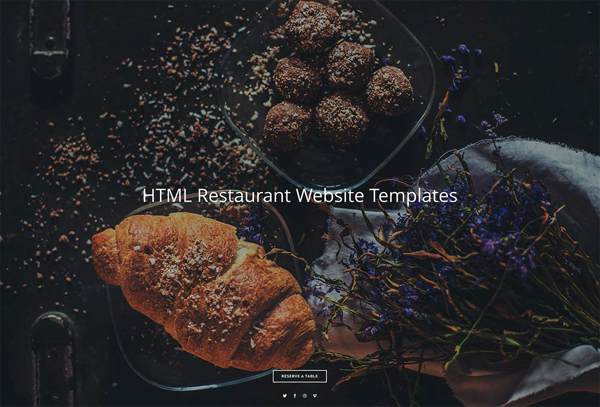 Top 24 HTML5 Restaurant Website Templates For Small And Medium Sized Restaurants 2019