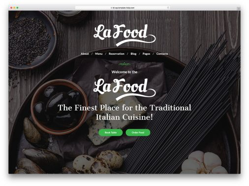 Restaurant Wordpress Website Templates