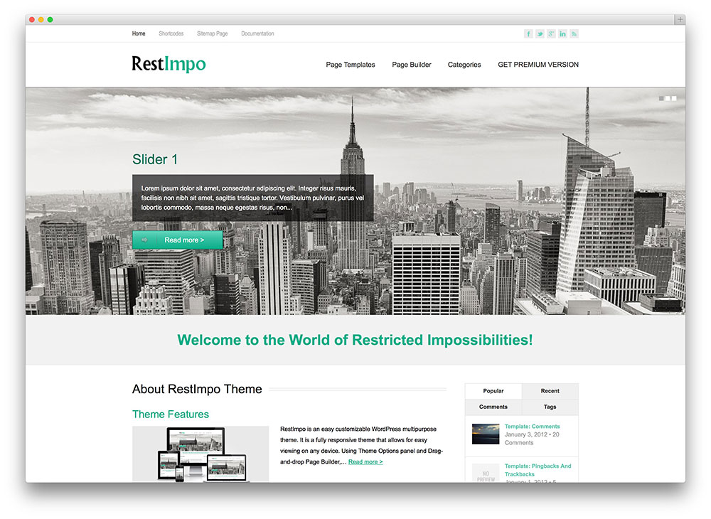restimpo - flat design business theme
