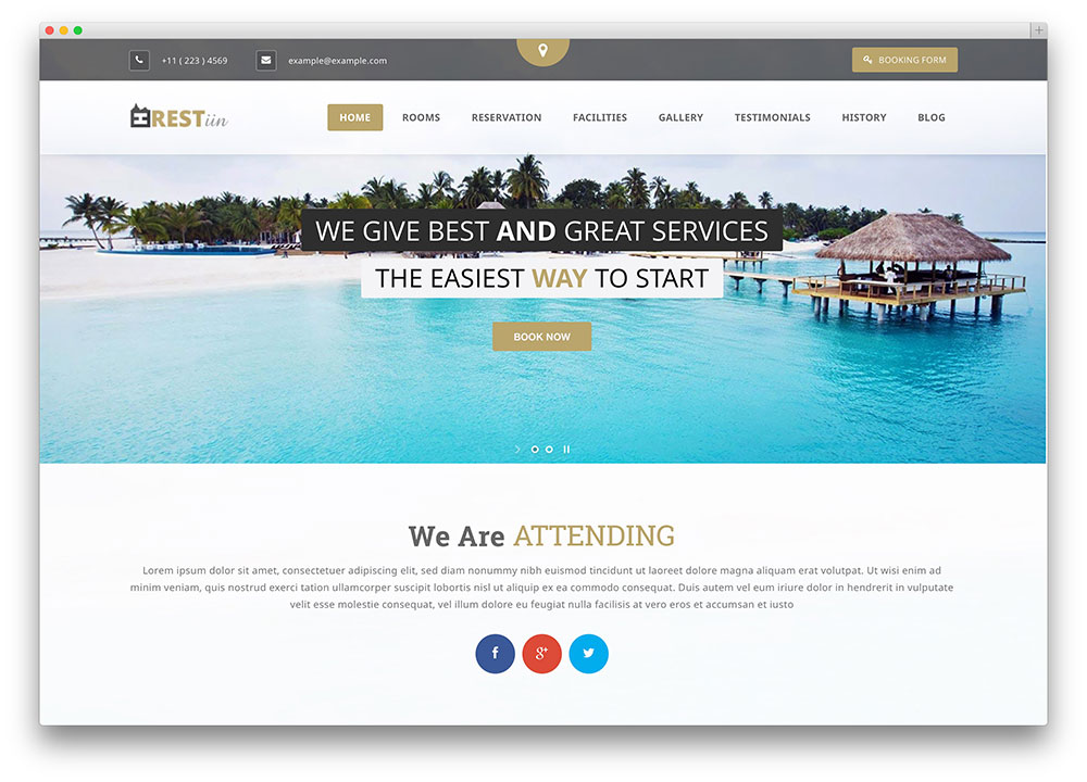 restinn hotel booking WordPress theme
