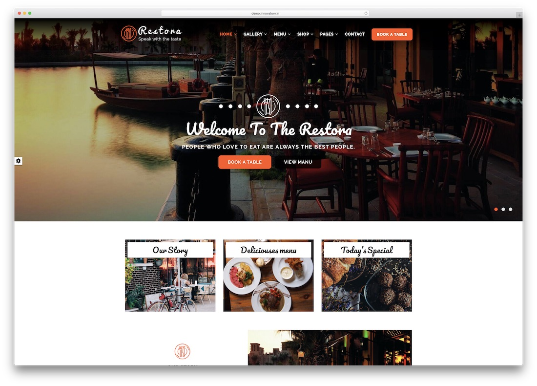 restora html5 website template
