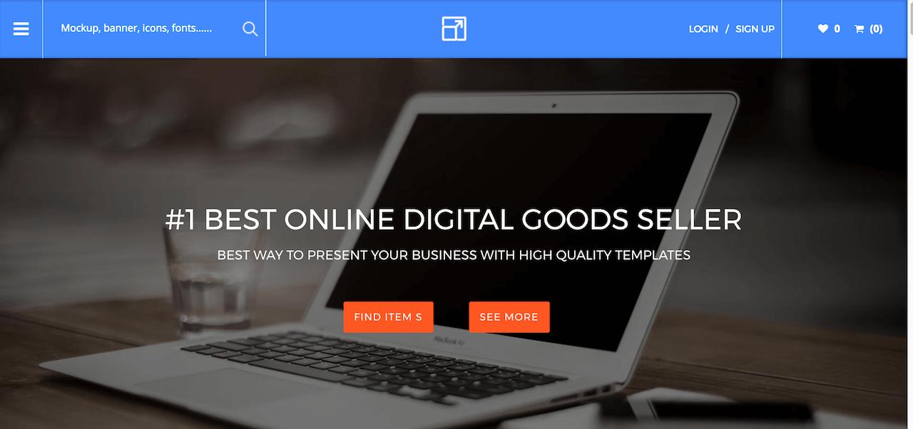 Restored - Online Marketplace website design
