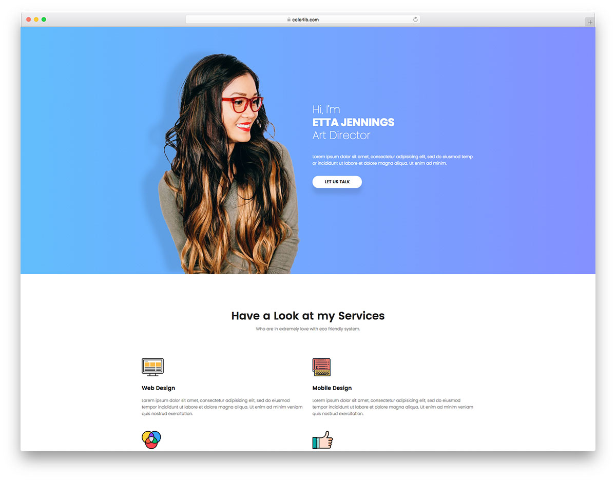 resume free online cv resume website template colorlib