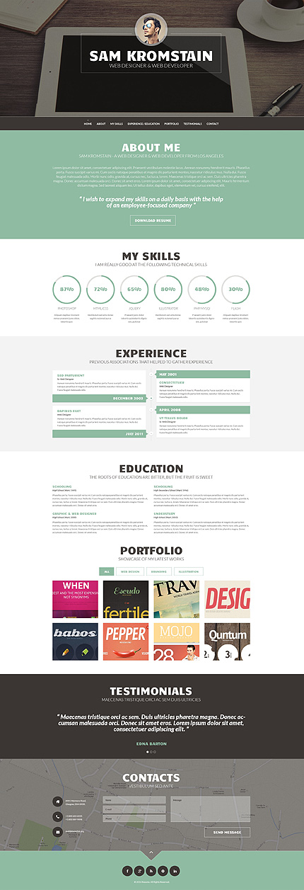 Top 10 Cv & Resume Wordpress Themes - Colorlib