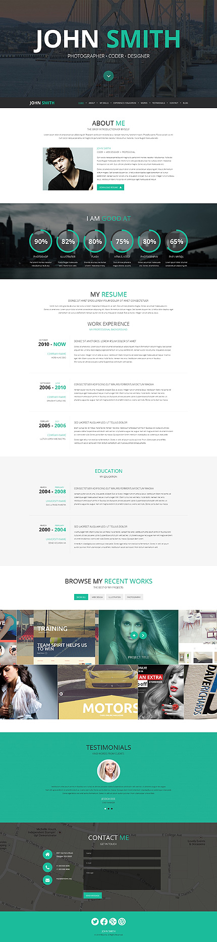 Top  Cv  Resume Wordpress Themes  Colorlib