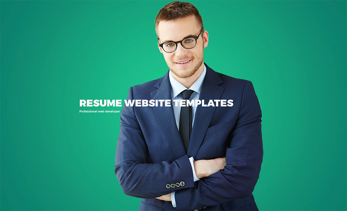 resume website templates - Wordpress Resume Template