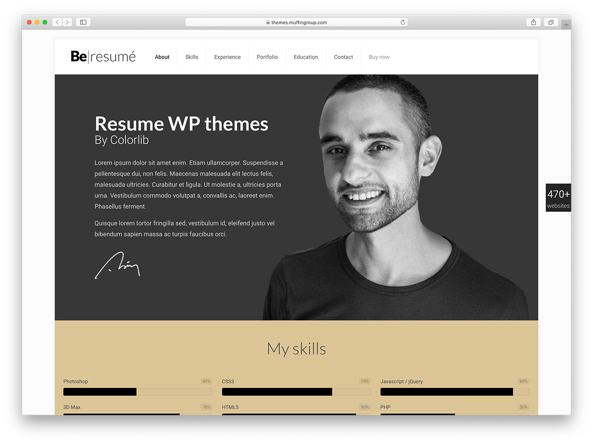 20 Best WordPress Resume Themes 2019