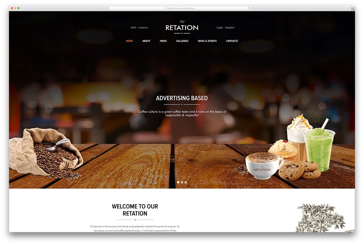 restaurants websites templates