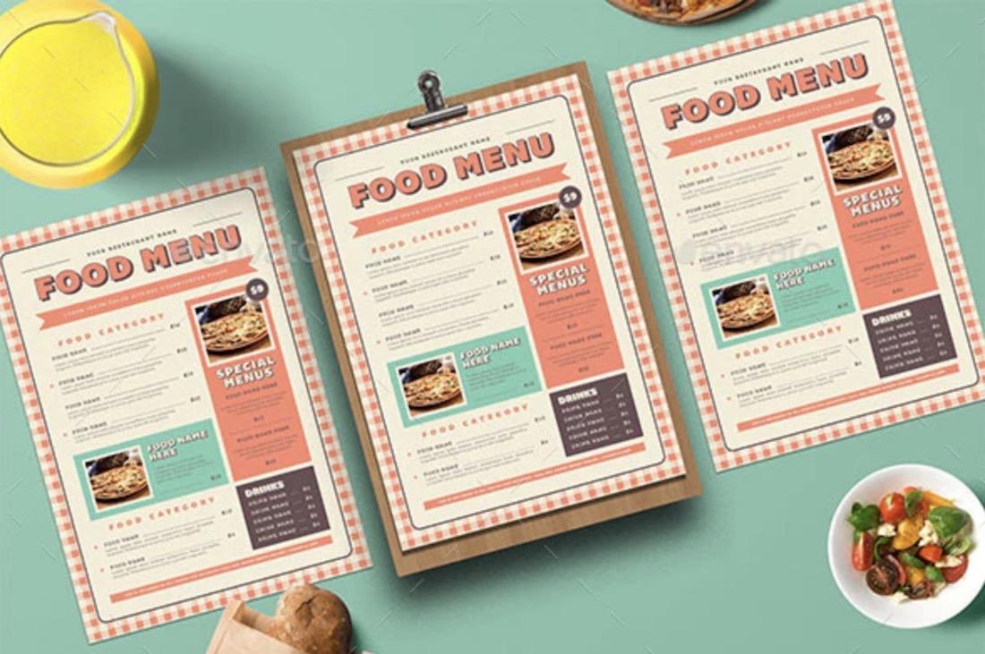 retro picnic food menu