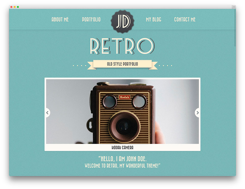 retro portfolio theme. 20 Best Vintage   Retro Style WordPress Themes For Hipsters And