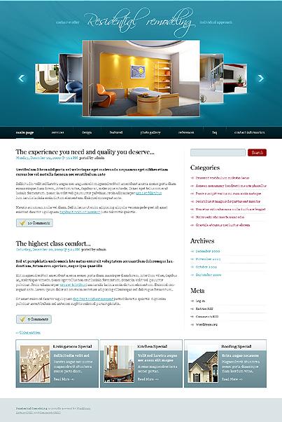 Home Remodeling WordPress Theme
