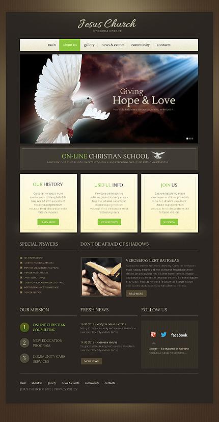 Religious Christian WordPress Theme